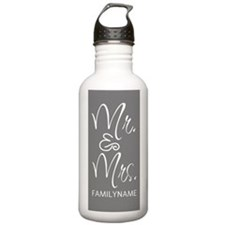 Gray and White Persona Water Bottle