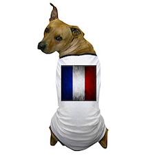 Grunge French Flag Dog T-Shirt