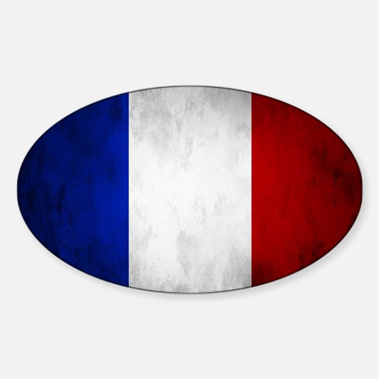 Grunge French Flag Decal