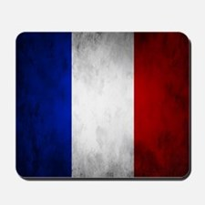 Grunge French Flag Mousepad