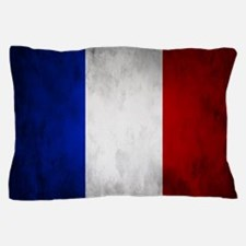 Grunge French Flag Pillow Case