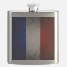 Grunge French Flag Flask