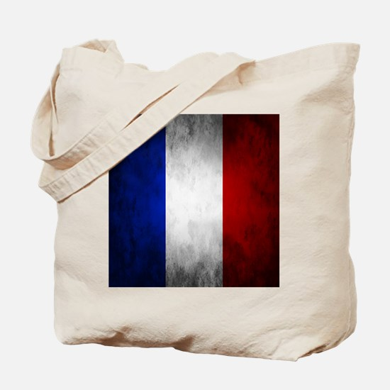 Grunge French Flag Tote Bag