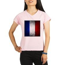 Grunge French Flag Performance Dry T-Shirt