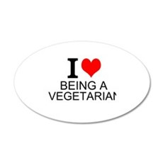 I Love Being A Vegetarian Wall Decal