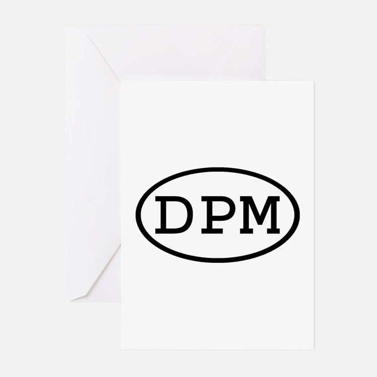 DPM Oval Greeting Cards (Pk of 10)