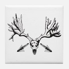 Broad head buck 214 Tile Coaster