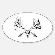 Broad head buck 214 Sticker (Oval)