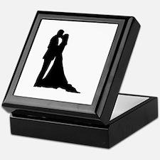 Kissing wedding couple Keepsake Box