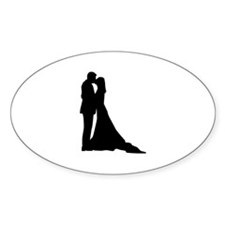 Kissing wedding couple Decal
