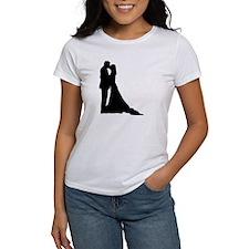 Kissing wedding couple Tee