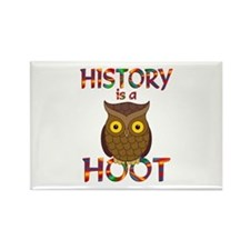 History is a Hoot Rectangle Magnet