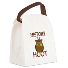 History is a Hoot Canvas Lunch Bag