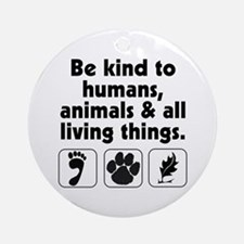 Be kind Ornament (Round)