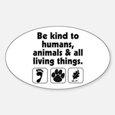 Be kind Oval Decal