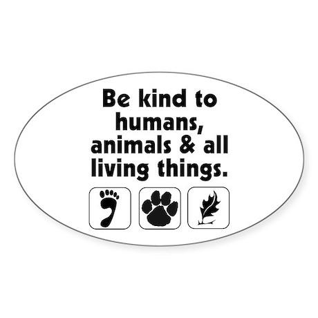 Be kind Oval Sticker