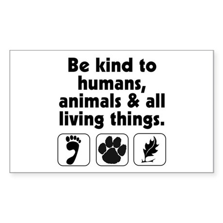 Be kind Rectangle Sticker