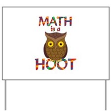 Math is a Hoot Yard Sign