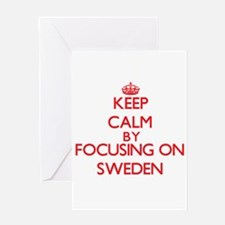 Keep Calm by focusing on Sweden Greeting Cards