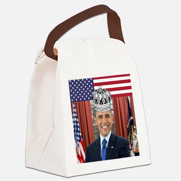 King Obama Canvas Lunch Bag