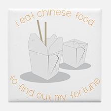 Eat Chinese Food Tile Coaster