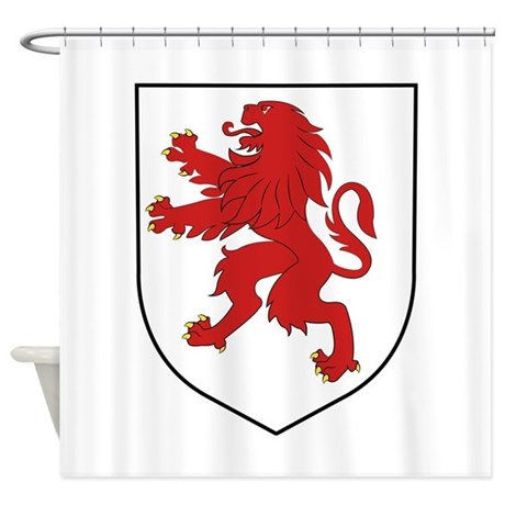 Lion Crest Shower Curtain By Windmill30