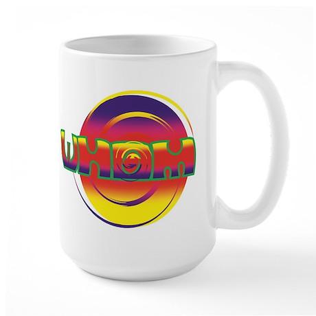 Large INSCRUTABLE WHOM coffee mug