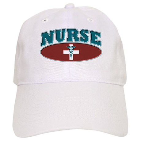 Sporty Nurse Caduceus White Cross Cap
