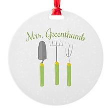 Mrs. Greenthumb Ornament