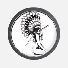 Pow Wow Hottie Wall Clock