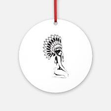 Pow Wow Hottie Ornament (Round)