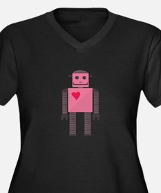 Heart Android Plus Size T-Shirt