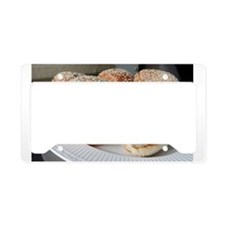 homecooked hamburgers License Plate Holder