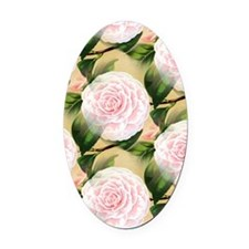 Pink Camilla Oval Car Magnet