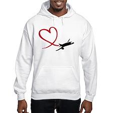 Airplane red heart Hoodie