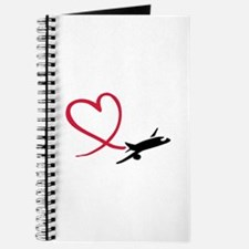 Airplane red heart Journal