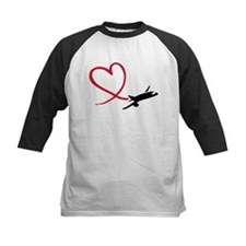 Airplane red heart Tee