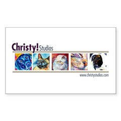 Christy Studios Promo Rectangle Sticker