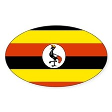 Ugandan Flag Oval Decal