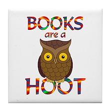 Books are a Hoot Tile Coaster