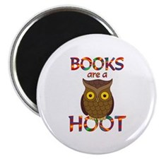 """Books are a Hoot 2.25"""" Magnet (10 pack)"""