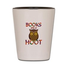 Books are a Hoot Shot Glass