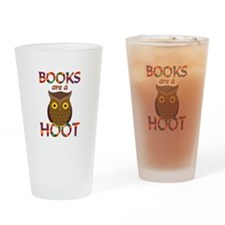 Books are a Hoot Drinking Glass