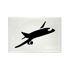 Airplane Rectangle Magnet