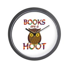 Books are a Hoot Wall Clock