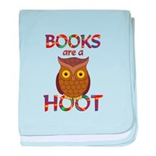 Books are a Hoot baby blanket