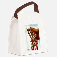 Beary Christmas Canvas Lunch Bag