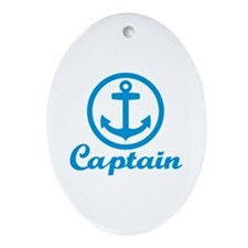 Anchor captain Ornament (Oval)