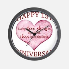 1st. Anniversary Wall Clock