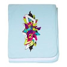 Graffiti king baby blanket